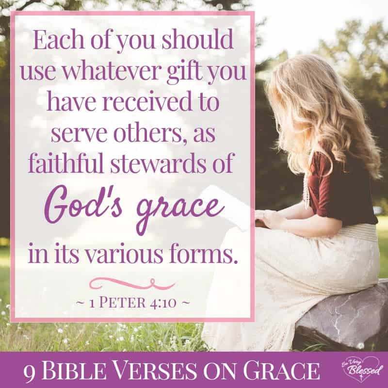 Use these 12 Bible verses on grace to understand the beautiful gift you've been given and take your relationship with God to a deeper level.
