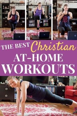 Woman showing various at-home workouts in her living room