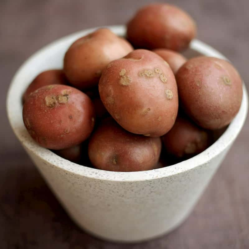 Bowl of red potatoes