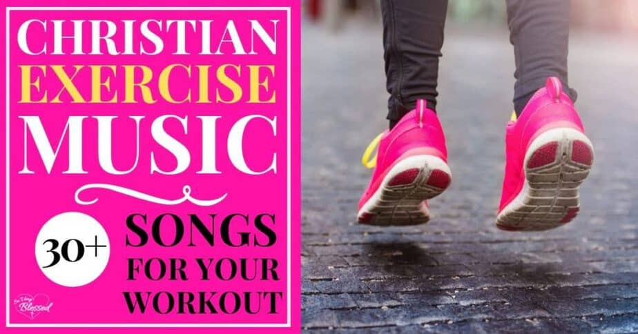 Running shoes jumping on pavement - Christian exercise music - 30+ songs for your workout