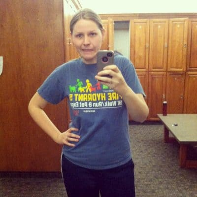 Selfie in the locker room at the gym