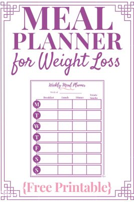 picture about Free Printable Weight Loss Planner titled Supper Planner for Fat Decline Free of charge Printable