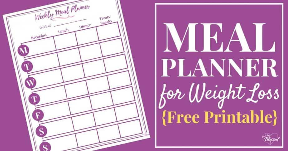 Meal Planner For Weight Loss Free Printable