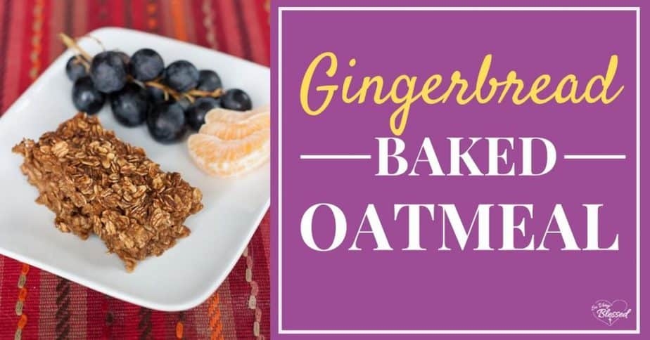 Plate of grapes, oranges, and a slice of gingerbread baked oatmeal