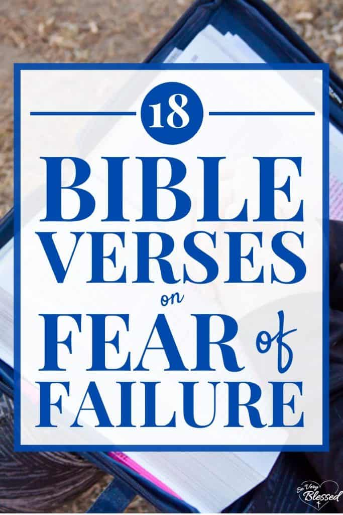 pin on Bible verses about fear of failure with picture of Bible open with praying hands