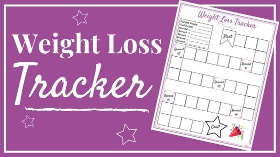 Bild des druckbaren Spielbretts des Gewichtsverlust-Trackers